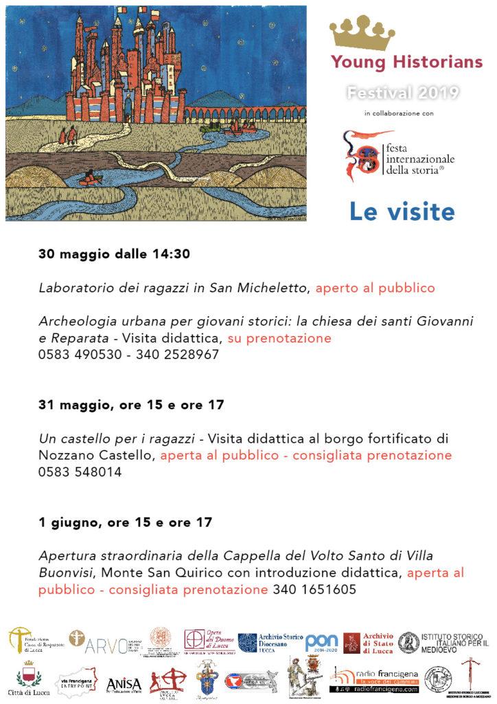 Santi Del Calendario.Calendario Delle Visite 2019 Young Historians Festival